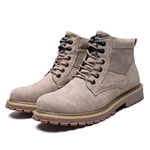 Stivali Stivali Stivali Grigio da Lavoro Uomo Scarpe Uomo Nero Stivali Outdoor Stivali in Martin Alti da Trekking Calzature da Marrone da Antinfortunistici Maschili Passeggio Grigio da gqwIrfg