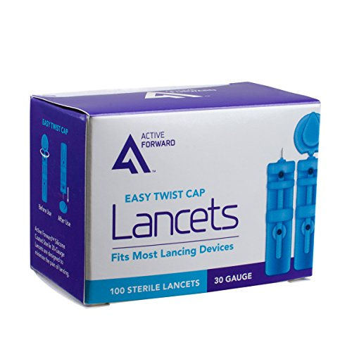 Active Forward Sterile Blood Lancets, 30 Gauge, 100 Count