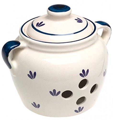 Norpro 5-inch Ceramic Garlic Keeper; New; Free Shipping