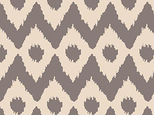Camelot Fabrics Cove Ikat Poplin Quilting Fabric Sand & Grey - per metre