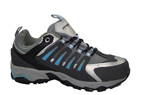 Hytest Women's Internal Metguard Electrical Hazard,Non-Slip Steel-Toe Athletic Safety Shoe (5W US, Blue) by Wolverine (Image #1)