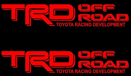 US Fast Ship New TRD SPORT Black White Decals Vinyl Stickers Graphics Letters Side Toyota Tacoma 4x4 Racing Development Pickup Truck Auto Car Compatible Use