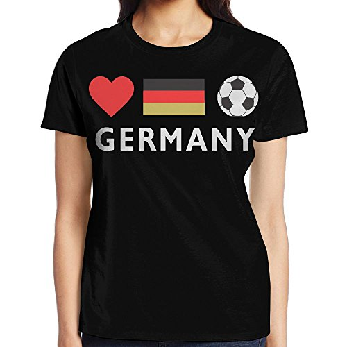 Germany Football German Soccer Summer Funny Women's Short Sleeve Tee - Germany To Shipping Usps