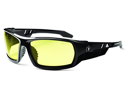 Ergodyne Skullerz Odin Safety Glasses - Black Frame, Yellow Lens