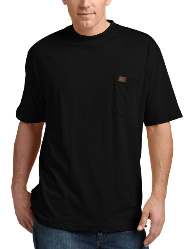 RIGGS WORKWEAR by Wrangler Men's Pocket T-Shirt, Black, Medium