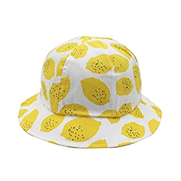 2cf6e1f76 Amazon.com: ArMordy(TM) New Lemon Print Bucket Hat Kids Cotton Baby ...