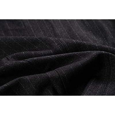 Foucome Women's Pinstripe Formal Casual Suit Slim Fit Button Down Vest Waistcoat at Women's Coats Shop
