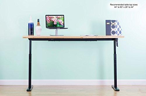 Vivo Manual Crank Stand Up Steel Desk Frame System
