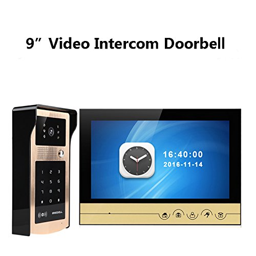 New WiFi Video Intercom Doorbell Remote Unlock Remote Monitoring Equipped With Mobile Detection Function (8G TFCARD) by JIA
