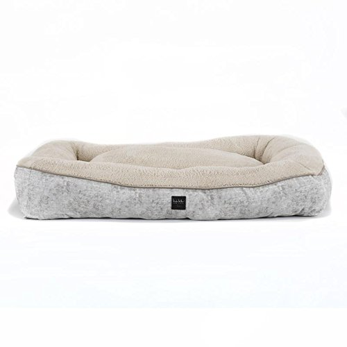 Home Dynamix Nicole Miller Comfy Pooch Pillow Pet Bed, 29×39 , Beige Marble