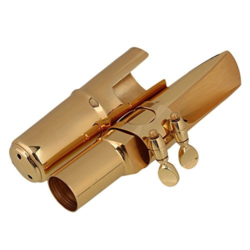 Surfing Brass 7# Nickel-plated E-flat Alto Saxophone Mouthpiece with Cap Ligature Golden by Surfing (Image #8)