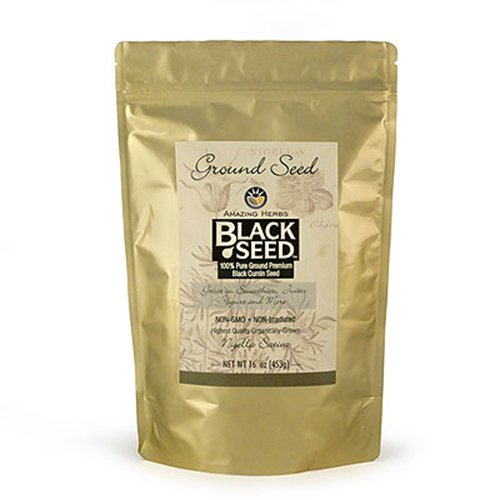Amazing Herbs Black Seed (Amazing Herbs Black Seed Ground Seed , 16 Ounce)