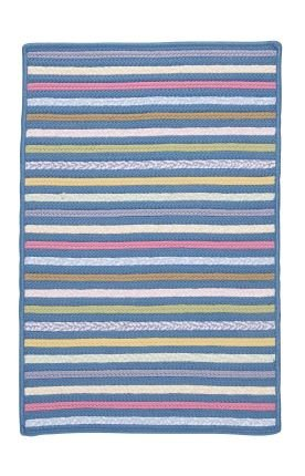 Colonial Mills Bright Stripe Storage Basket/Rug, 5-Feet by 8-Feet, Morning Dew