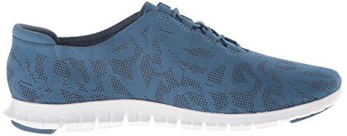 Cole Haan Mujeres Zerogrand Zapatillas Perforadas Moda Zapatillas Stellar Nubuck Perforado / Blanco Óptico