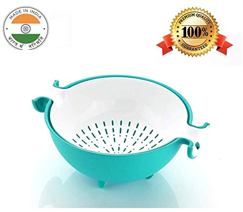 SellBotic Multifunctional Washing Vegetables and Fruit Draining Strainer Detachable Double Layer Drain Baskets Bowl(Multicolour) Price & Reviews