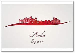Imán clásico para nevera de España, Avila Skyline: Amazon.es: Hogar