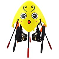 Cheerson CX-205 / SH 6057 3.1 Mini 2.4G 4CH 6 Axis Gyro 3D Flip LED Light RC Quadcopter Ready to Fly Toys RTF Drone - Yellow Lovely Bee (with Mode 2 Left Throttle Transmitter) Best Gift for Christmas Birthday Thanksgiving