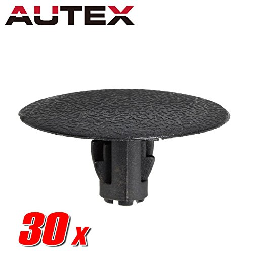 AUTEX 30pcs Fender Liner Fastener Rivet Push Clips Retainer Nut Replacement for Subaru Forester Impreza Legacy Outback STI Tribeca WRX