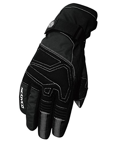 CRAZY AL'S MC30 Waterproof and Thermal Full-Finger Motorcycle Gloves with Touch Screen Device Sportswear Cycling Outdoor Sports Winter and Warm Gloves for SCOYCO Black M/L/XL/XXL (M, Black)