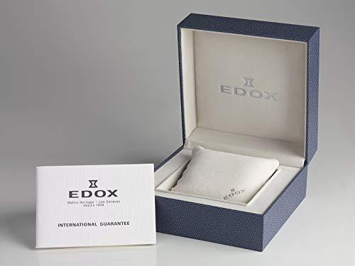 Edox Delfin kronograf kvarts 100 meter armband 32 mm Bianco