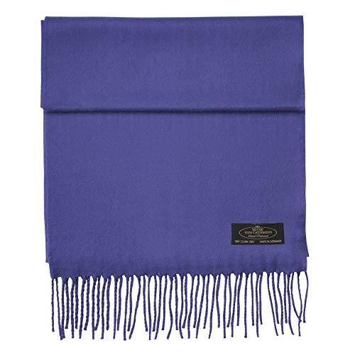 100% Cashmere Scarf Super Soft For Men And Women Warm Cozy Scarves Multiple Colors FHC Enterprize (Eggplant)