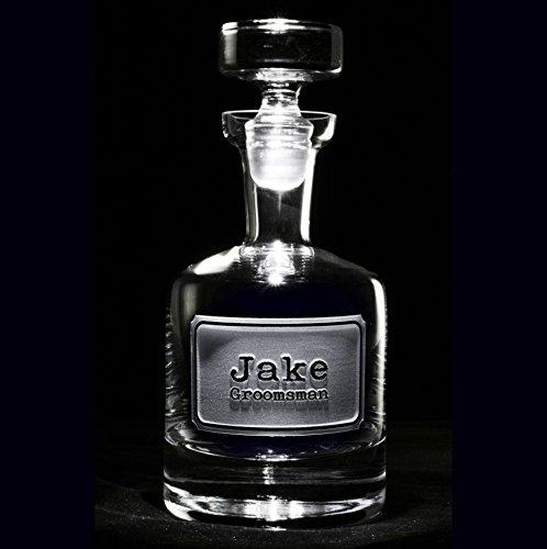 Best Man Gift Engraved Decanter for Whiskey, Scotch, Bourbon, Rye, Gin, Vodka, Liquor