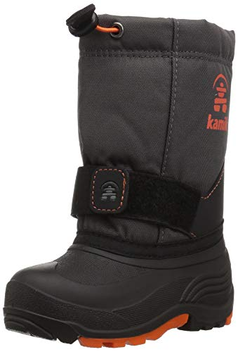 Pictures of Kamik Boys' ROCKETW Snow Boot, Charcoal/Flame, 8 Wide US Toddler 1
