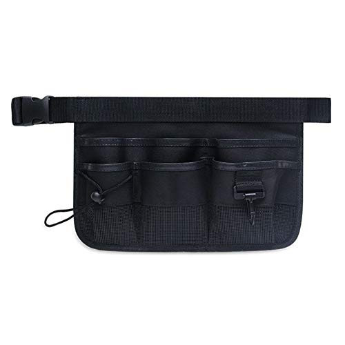 MeterMall Small Tool Organizer Multi-Purpose Waist Bag Tool Bag Pouch Carrying Case for Handyman Cleaner Waiter (BLD-003 Black)