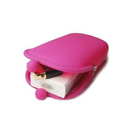 Isuper Belleza El caucho de silicona cosmética de maquillaje bolsa de almacenamiento de la moneda del bolso monederos empaqueta la cartera Celular ...