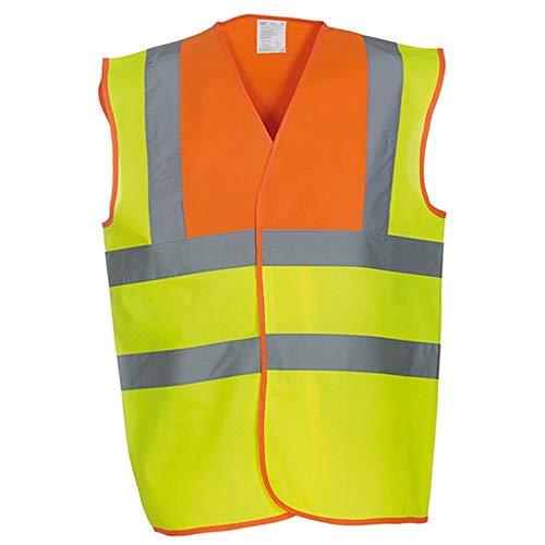 Haute De orange Gilet Visibilité Unisexe Jaune Yoko Sécurité qtzw54w