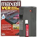 Maxell Cleaning VHS Tape Cartridge Camcorder-Compatible Easy-To-Use Safe Good For 100 Uses