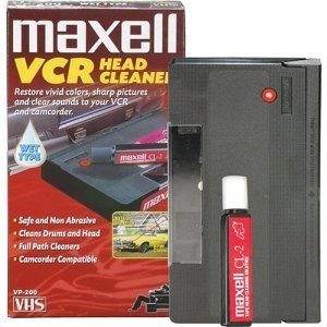 Maxell Cleaning VHS Tape Cartridge Camcorder-Compatible E...