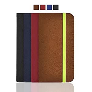 QJM Angibabe Dull Polish PU Leather Case with Card Slot and Wallet for iPhone 6(Assorted Color) , Black