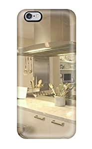 8753553K26061985 Fashion Tpu Case For Iphone 6 Plus- Modern Kitchen With Two Kitchen Islands Defender Case Cover
