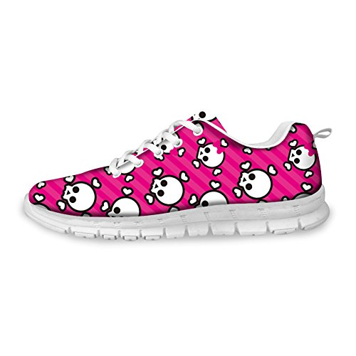 Bigcardesigns Rosa Zombie Casual Unisex Running Sneakers Sport Outdoor Shose 35