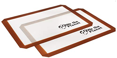 We The Planet Premium Silicone Non-Stick Baking Mats (Set of 2) Commercial Grade | Food Safe, BPA Free