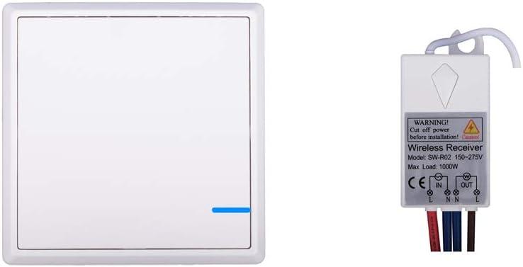 SHEMSINZ.commutateur sans fil.aucune ligne de mise en page.interrupteur unique.contr/ôle sans fil.l Charge int/égr/ée de 1000W. Lumi/ères de contr/ôle sans fil et appareils m/énagers