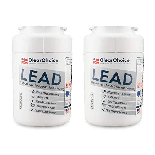 lead reduction refrigerator Replacement water filter for GE MWF Certified to the NSF/ANSI 42 & 53 Standard for chlorine & lead reduction.clch102-L