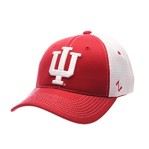 NCAA Indiana Hoosiers Men's Rally Z-Fit Cap, X-Large, Red/White