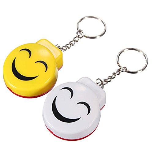 LIKECAR Mini Anti Rape Sicherheits Angriff Personenalarm Taschenalarm Schutz Lächeln Schlüsselanhänger Alarm One Pair/2 Stück Speziell für Selbstverteidigung Panikalarm, Einschließen Guter Qualität Batterie, Persönliche Schlüsselalarm
