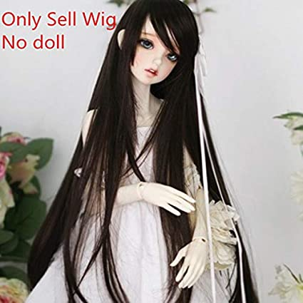 9-10 Inch 1//3 BJD Doll Wig Long Straight Hair for SD Uncle Doll Wigs
