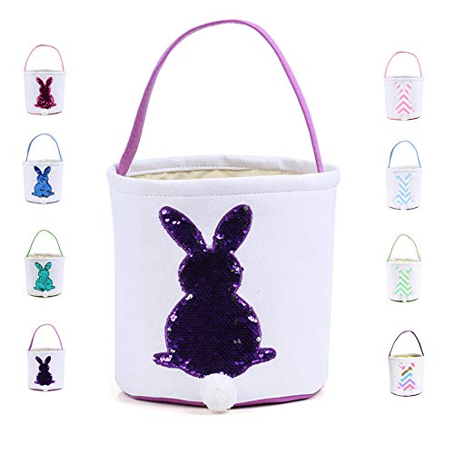 Warmhol Easter Bunny Bags for Kids Cloth Easter