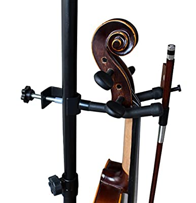 Vizcaya VLH10 Violin Hanger With Bow Peg Attachment for Music Stand/Microphone Stand by JUNHAO