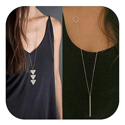Beaded Tunic Sweater - Defiro Y Layer Simple Bar Pendant Necklace Center Long Lariat Chain For Women Jewelry With Message Card