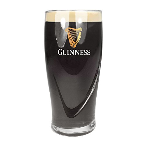 (1 X Guinness Logo Pint Glass with Embossed Harp (20oz Official Glass))