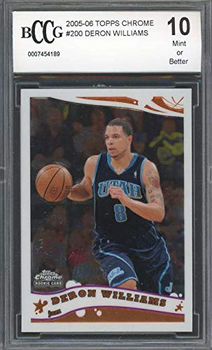 - 2005-06 topps chrome #200 DERON WILLIAMS utah jazz rookie card BGS BCCG 10 Graded Card