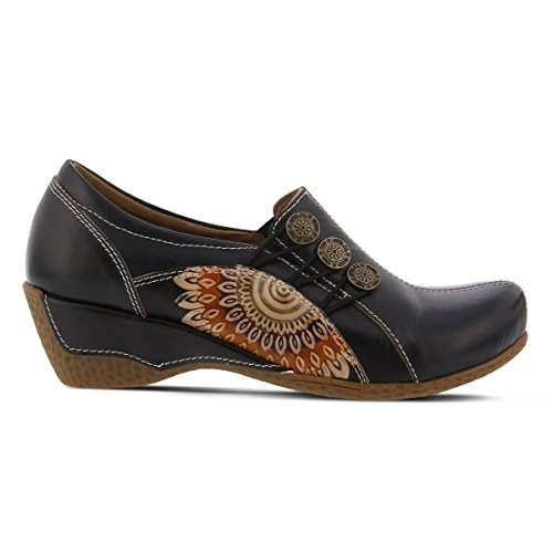 Teal Black On Shoe Featuring L' Tan Slip Loafer Embossed Colors and Black Designs artiste Agacia 0wwqApS6