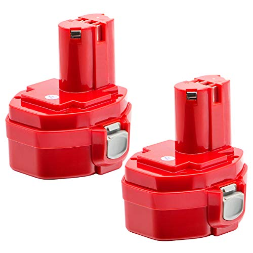 Replacement for Makita 14.4V battery 3.0Ah High Capcity NI-MH Power Tool Battery Replacement for Makita 1420, 1422, 1433, 1434, 1435, 1435F, 192699-A,193158-3,192600-1 Cordless Power Tool battery(Red)