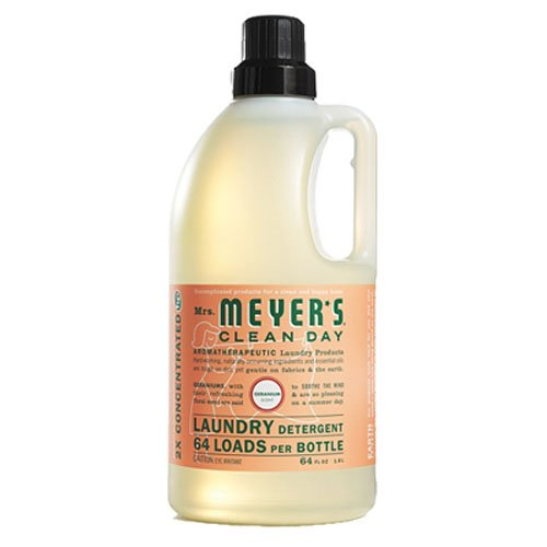 Mrs. Meyer's Clean Day Laundry Detergent, Geranium Scent, 64 ounce bottle (Pack of 2)