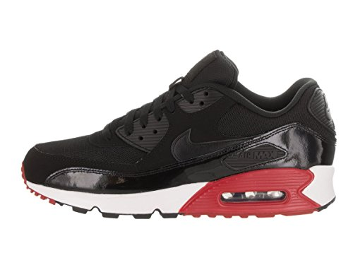 Nike Air Max 90 Essential, Zapatillas de Running para Hombre, Gris, 41-47.5 EU Blanco (Black/black/gym Red/white)